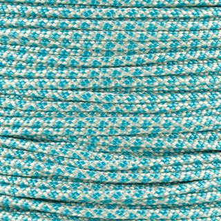 Paracord Typ 2 cream turquoise diamonds
