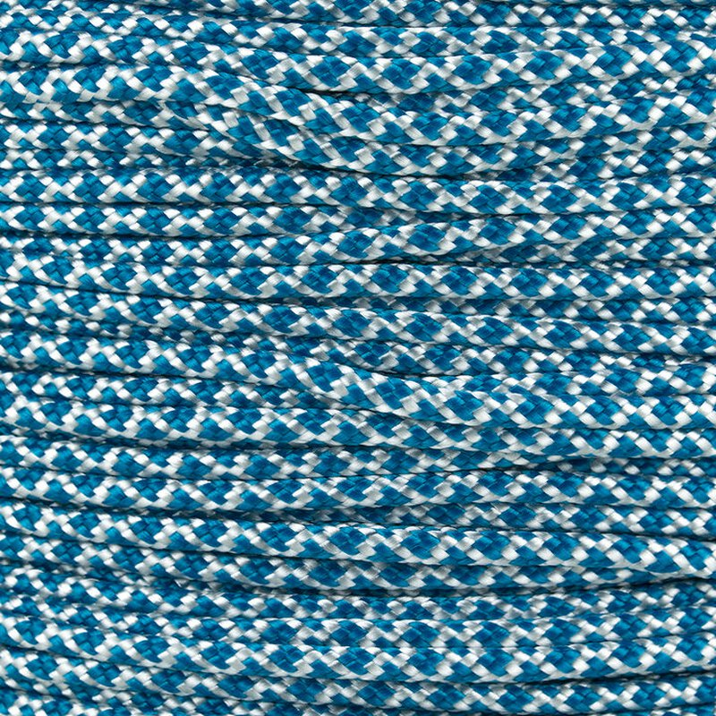 Paracord Typ 2 white caribbean blue diamonds