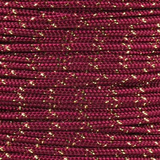 Paracord Typ 2 burgundy gold metal x