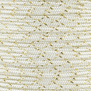 Paracord Typ 2 white / gold metal x
