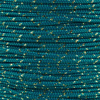 Paracord Typ 2 teal / gold metal x