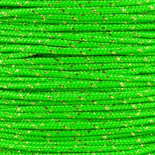 Paracord Typ 2 neon green / gold metal x