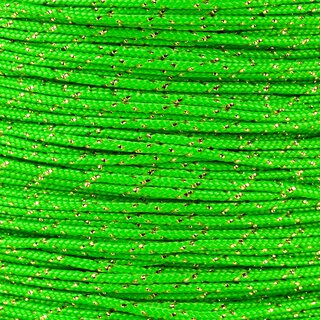 Paracord Typ 1 neon green gold metal x