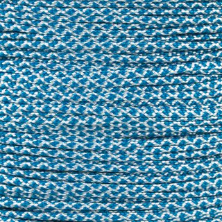 Paracord Typ 1 white caribbean blue diamonds
