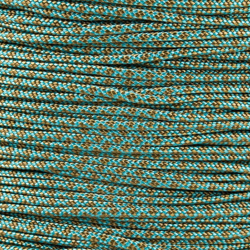 Paracord Typ 1 turquoise gold brown diamonds