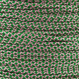 Paracord Typ 1 rose pink kelly green diamonds