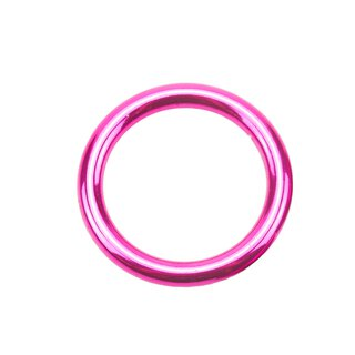 Stahl Rundring candy pink Ø25 mm