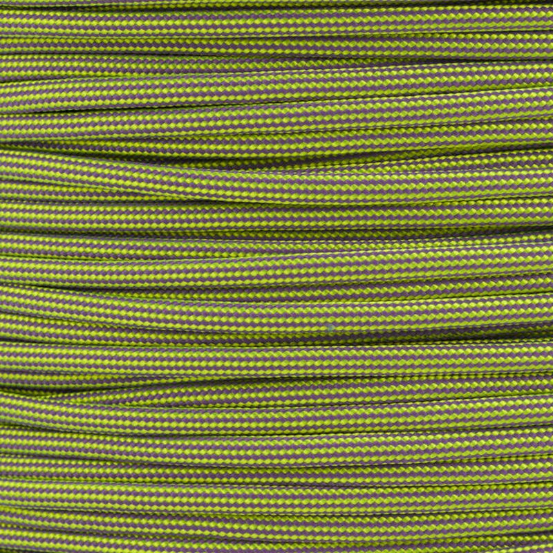 Paracord Typ 3 neon yellow / lilac stripe