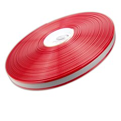 Biothane Gold / 25mm | 2.5mm red transluscent reflekt
