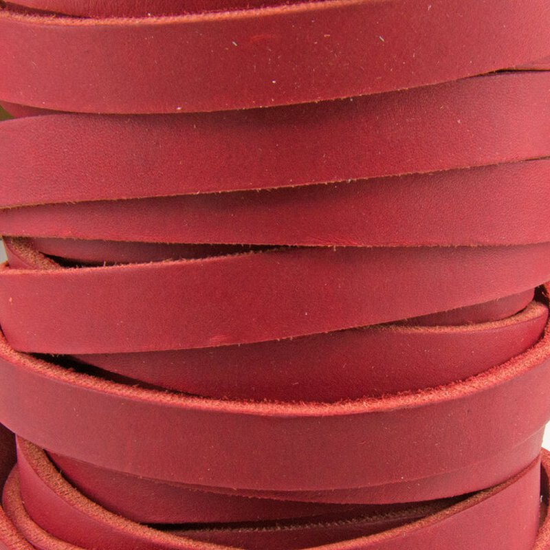 Fettlederriemen endlos 4 x 15mm rot