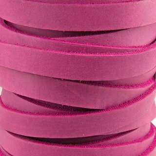 Fettlederriemen endlos fuchsia 15 mm