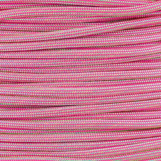 Paracord Typ 3 mint / neon pink stripe
