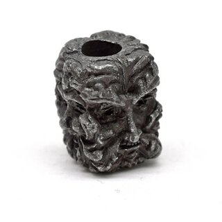 Green Man Skull black oxidiert
