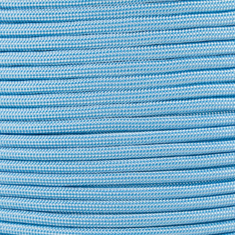 Paracord Typ 3 baby blue white stripe