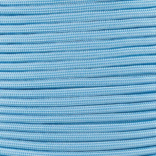 Paracord Typ 3 baby blue / white stripe