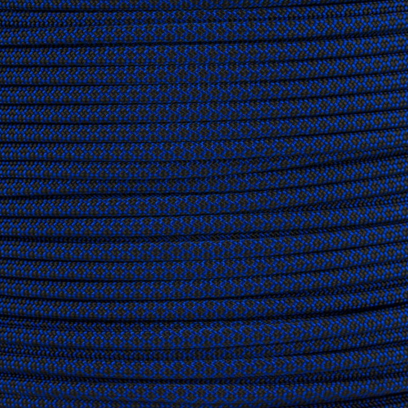 Paracord Typ 3 electric blue black diamonds