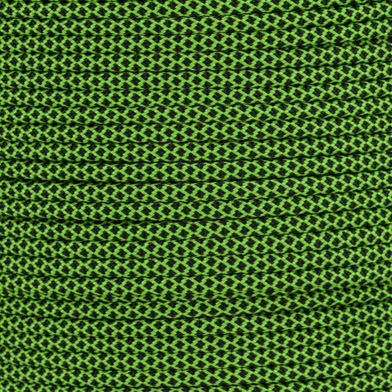 Paracord Typ 3 neon green black diamonds