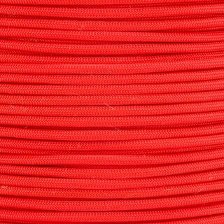 Paracord Typ 3 neon orange - Fish & Fire, mit Jute Zunder...