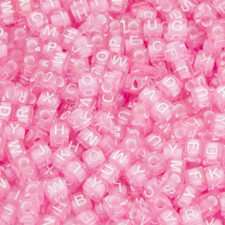 Letterbeads pink / weiss ca. 1000stk.