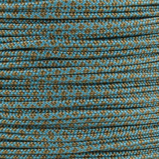 Paracord Typ 2 neon turquoise gold brown diamonds