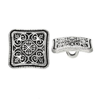 Antiksilber Knopf m. Ring, Ornament